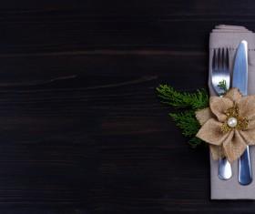 Christmas tableware Stock Photo 03
