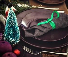 Christmas tableware Stock Photo 04