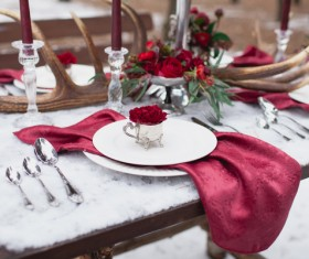 Christmas tableware Stock Photo 05