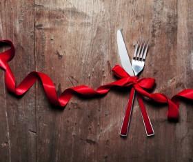 Christmas tableware Stock Photo 06