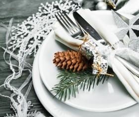 Christmas tableware Stock Photo 07