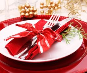 Christmas tableware Stock Photo 11