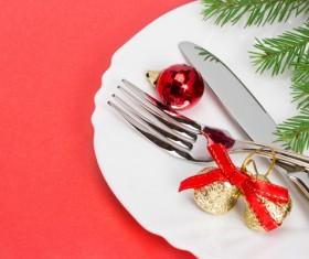 Christmas tableware Stock Photo 12