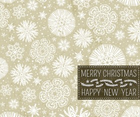 Christmas with new year snow seamless pattern vector 01