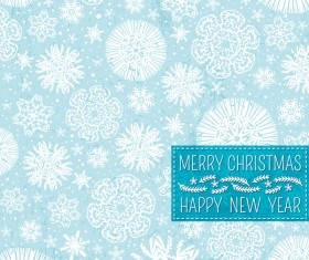 Christmas with new year snow seamless pattern vector 02