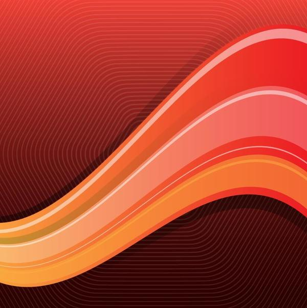 Colored wavy with abstract background vector