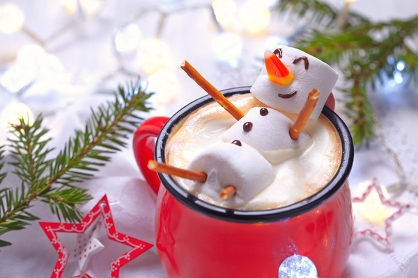 Cotton candy hot cocoa Stock Photo