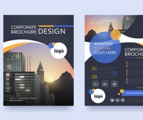 Creative brochure cover modern design vector 01