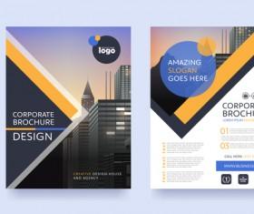 Creative brochure cover modern design vector 02