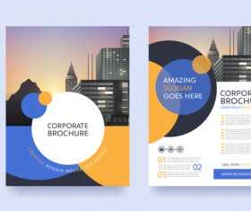 Creative brochure cover modern design vector 03