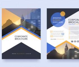 Creative brochure cover modern design vector 04