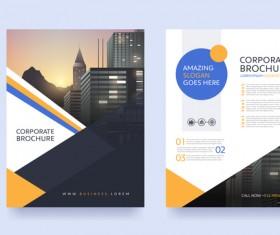 Creative brochure cover modern design vector 05