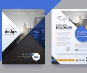 Creative brochure cover modern design vector 06