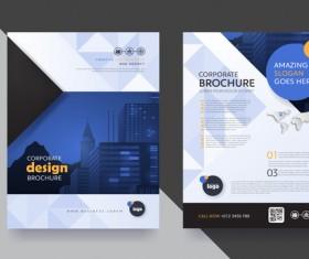 Creative brochure cover modern design vector 07