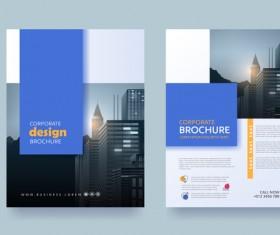 Creative brochure cover modern design vector 08