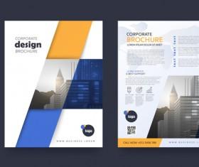 Creative brochure cover modern design vector 09