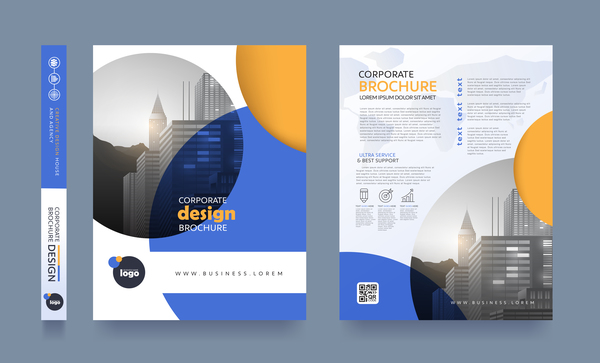 Creative brochure cover modern design vector 10