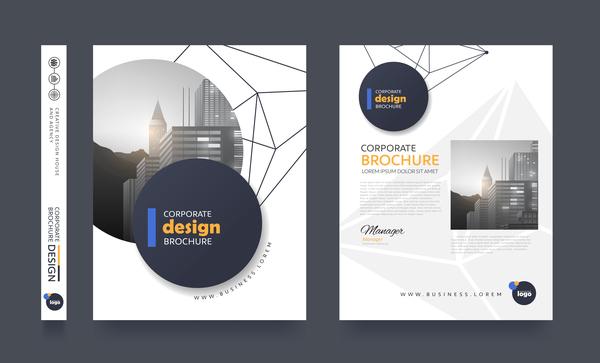 Creative brochure cover modern design vector 11