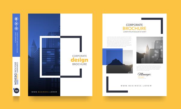 Creative brochure cover modern design vector 12