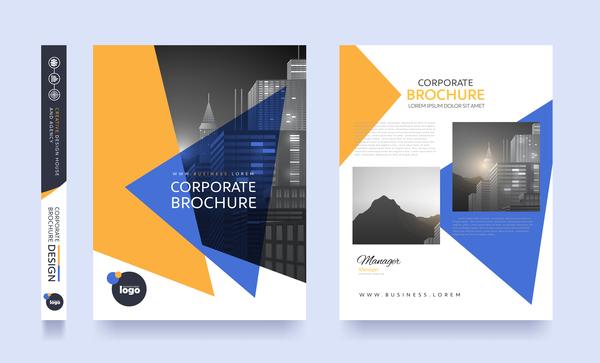 Creative brochure cover modern design vector 14