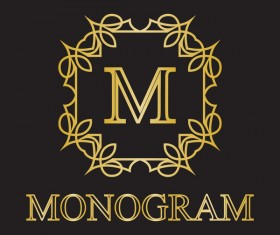 Creative monogram design vector 01