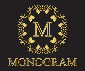 Creative monogram design vector 02