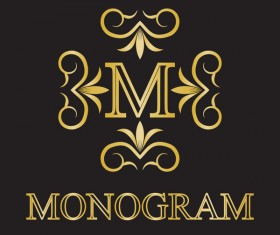 Creative monogram design vector 03