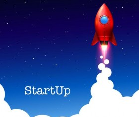 Creative start up business background vector 01