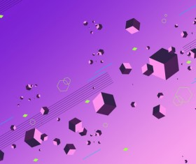 Cubes and abstract modern backgrounds vector 08