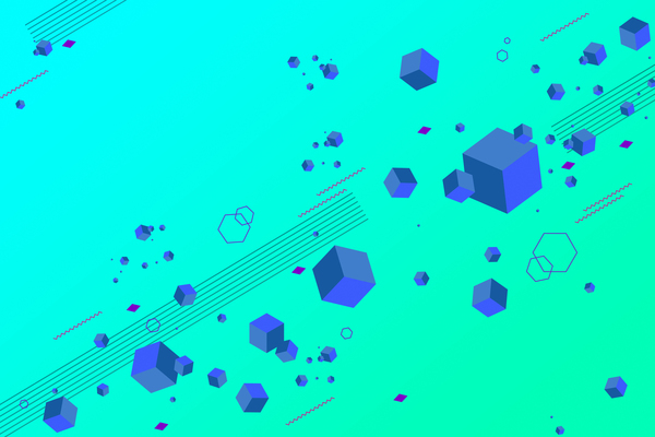 Cubes and abstract modern backgrounds vector 09