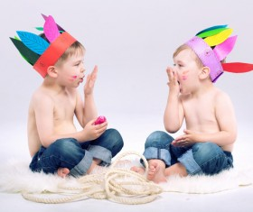 Cute children Stock Photo 03