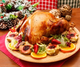 Delicious Christmas turkey Stock Photo 01