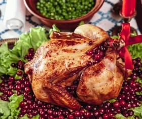 Delicious Christmas turkey Stock Photo 03