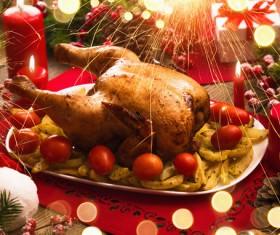 Delicious Christmas turkey Stock Photo 04