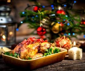 Delicious Christmas turkey Stock Photo 05