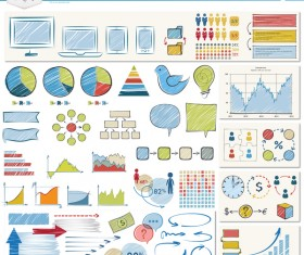 Detailed infographic elements template vector 01