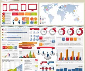 Detailed infographic elements template vector 02