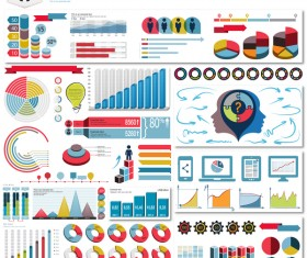 Detailed infographic elements template vector 03