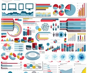 Detailed infographic elements template vector 04