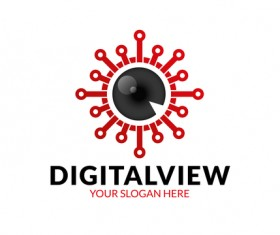 Digital view logo vector