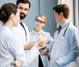 Doctors discuss issues Stock Photo