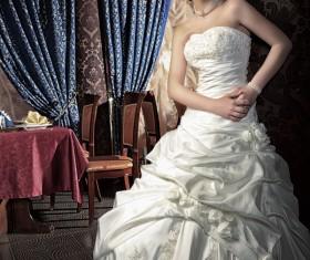 Elegant and beautiful bride Stock Photo 03