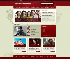 Entertainment Live Website PSD Template
