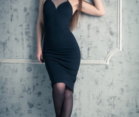 Evening Dress girl Stock Photo