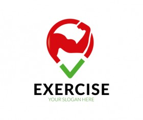 Exercise logo vector