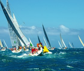Extreme Sailing Race Stock Photo 03