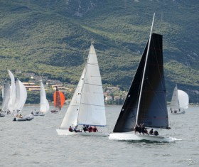 Extreme Sailing Race Stock Photo 04