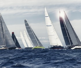Extreme Sailing Race Stock Photo 06