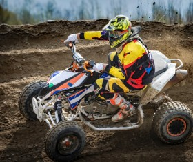 Extreme four wheel racing Stock Photo 01