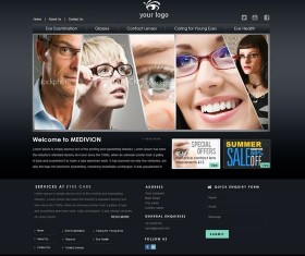 Eyes Care Center Website PSD Template